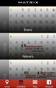 Calendario 2011 Espana.Matrix Fitness Espana Lanza Su App De Calendario De Ferias Y Eventos